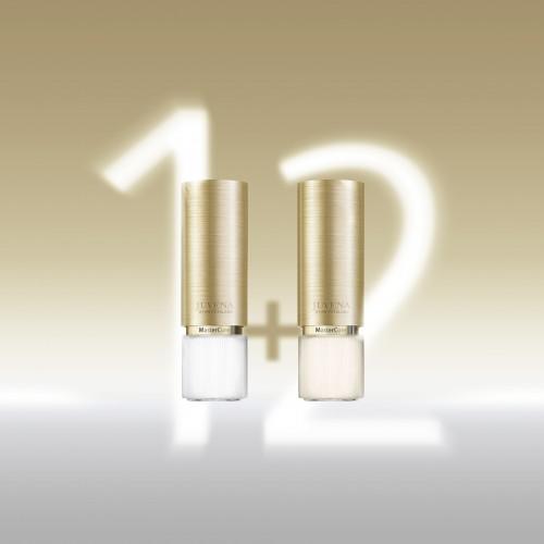 Das neue JUVENA-Motto in zwei Glaskolben: create new skin